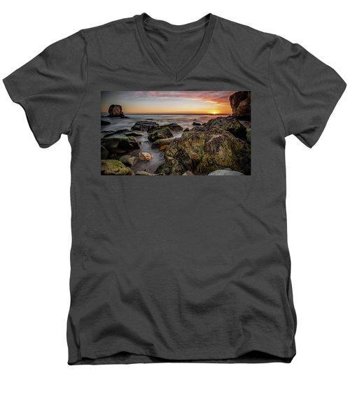 Horizon Glow Men's V-Neck T-Shirt