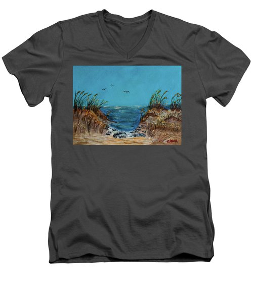Horse Neck Men's V-Neck T-Shirt