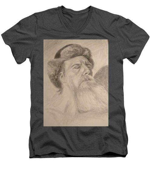 Hot Men's V-Neck T-Shirt