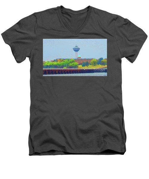 Hotel And Restaurant In Florence Alabama Men's V-Neck T-Shirt