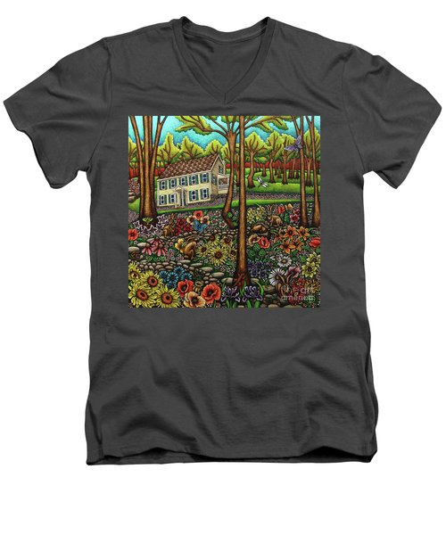 House In The Meadow  Men's V-Neck T-Shirt