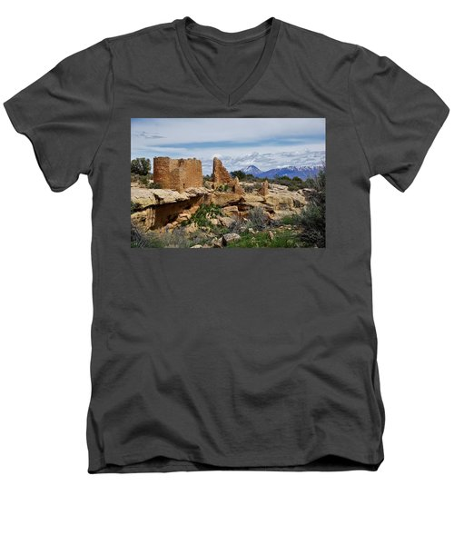 Hovenweep Castle Men's V-Neck T-Shirt