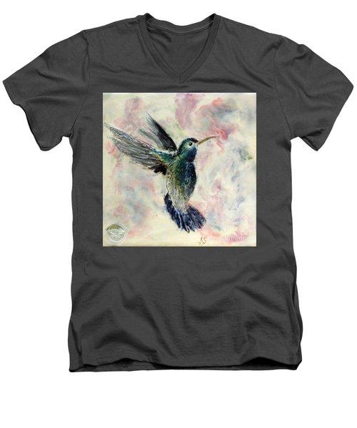 Hummingbird Flight Men's V-Neck T-Shirt