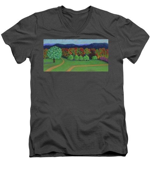Hutchins Farm In Fall Men's V-Neck T-Shirt