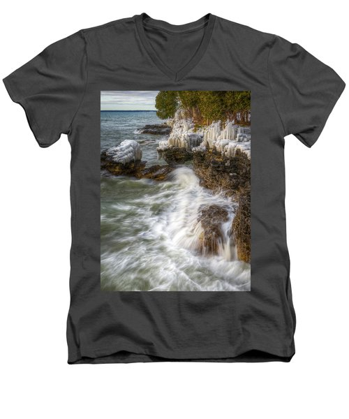 Ice And Waves Men's V-Neck T-Shirt