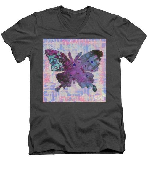 Imagine Butterfly Men's V-Neck T-Shirt
