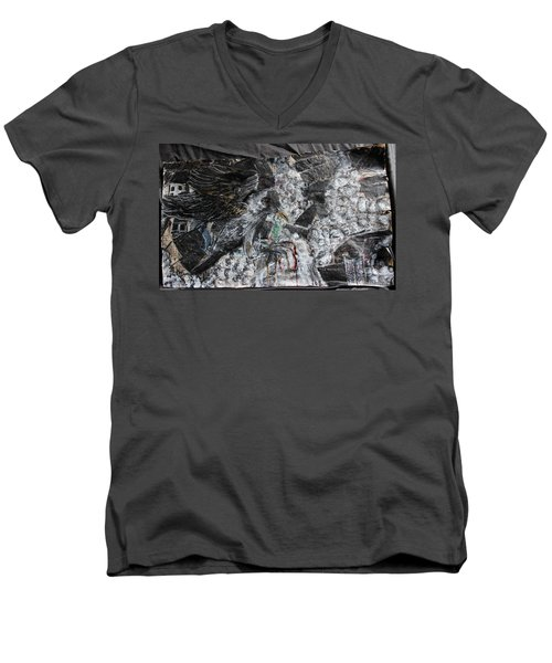 Immersed And Flawed By Cash Flow Men's V-Neck T-Shirt