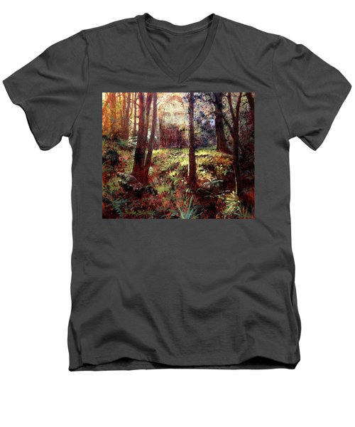 In Him We Live, And Move, And Have Our Being Men's V-Neck T-Shirt