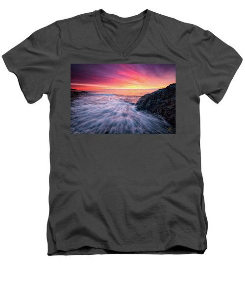 In The Beginning There Was Light Men's V-Neck T-Shirt