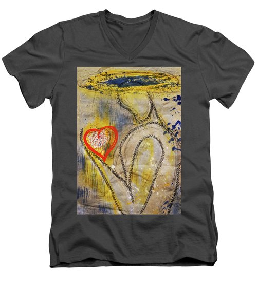 In The Golden Age Of Love And Lies Men's V-Neck T-Shirt