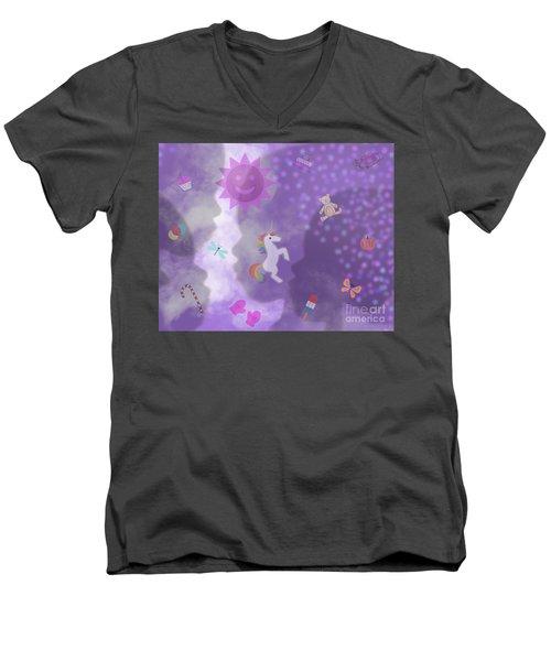 In The Mind Of A Child Men's V-Neck T-Shirt