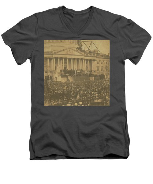 Inauguration Of Abraham Lincoln, March 4, 1861 Men's V-Neck T-Shirt