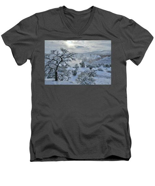 Independence Canyon At Sunrise In Colorado National Monument Men's V-Neck T-Shirt