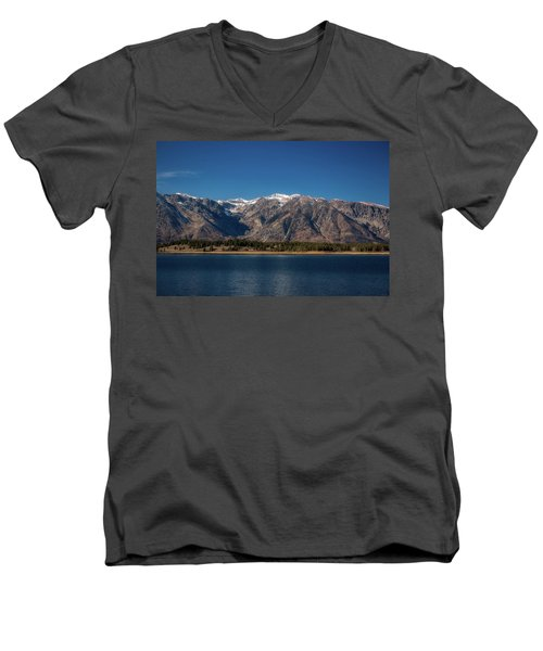 Jackson Lake Wyoming Men's V-Neck T-Shirt