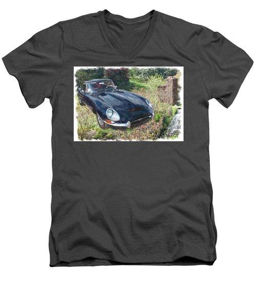 Jaguar E Type Men's V-Neck T-Shirt