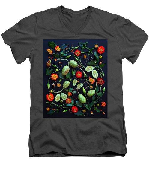 Jamaican Burr Cucumbers Men's V-Neck T-Shirt