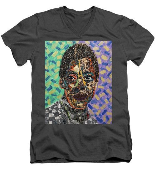James Baldwin The Fire Next Time Men's V-Neck T-Shirt