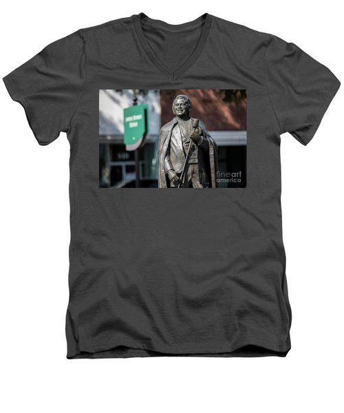 James Brown Statue - Augusta Ga Men's V-Neck T-Shirt