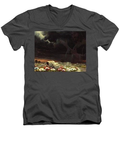 Jesus And His Jewels Men's V-Neck T-Shirt