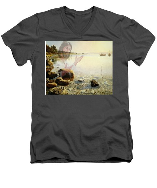 Jesus, Come Follow Me Men's V-Neck T-Shirt