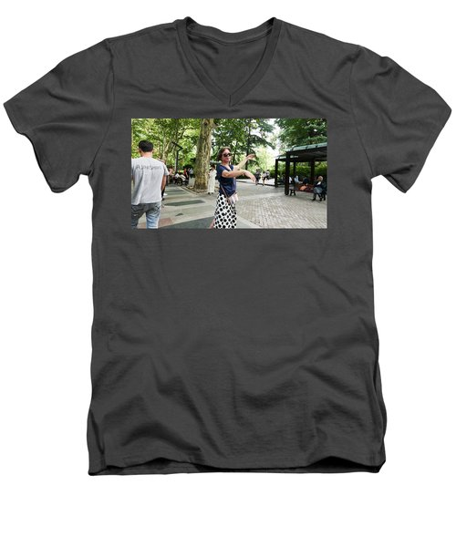 Jing An Park Men's V-Neck T-Shirt