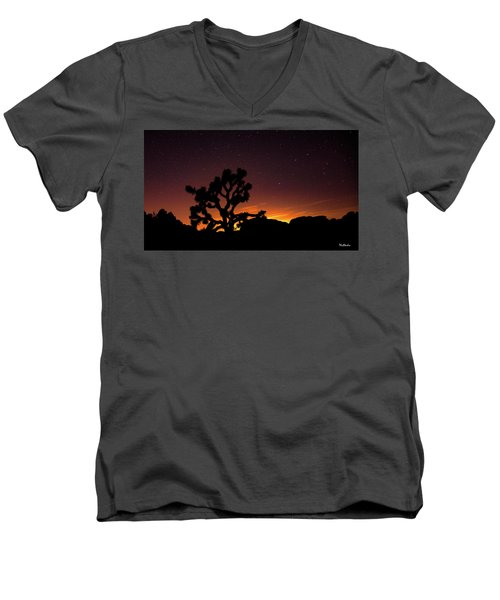 Men's V-Neck T-Shirt featuring the photograph Joshua Tree National Park by Tim Kathka