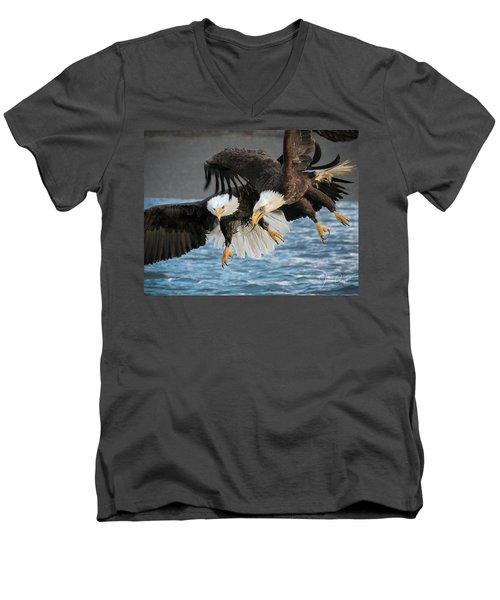 Jousting Eagles Men's V-Neck T-Shirt