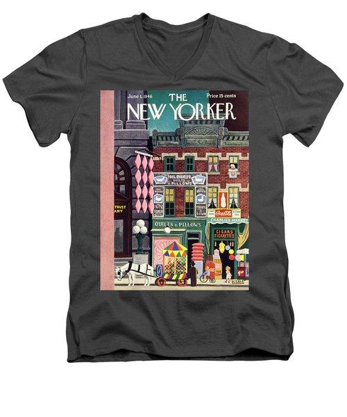 New Yorker June 1st 1946 Men's V-Neck T-Shirt