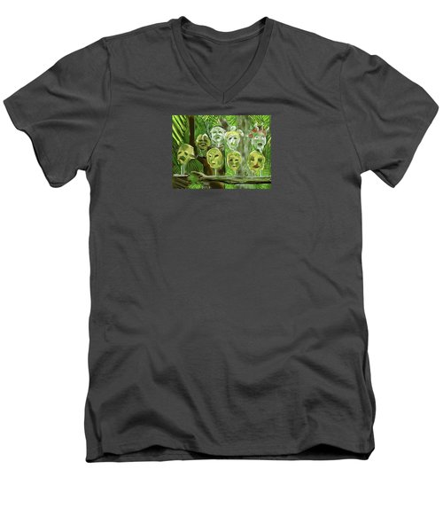 Jungle Spirits Men's V-Neck T-Shirt