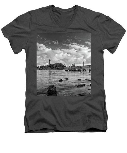 Jupiter Lighthouse 2 Men's V-Neck T-Shirt