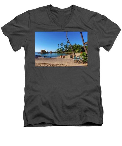 Kamakahonu Beach Men's V-Neck T-Shirt