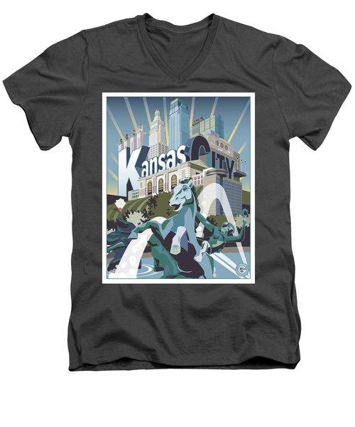 Kansas City Men's V-Neck T-Shirt