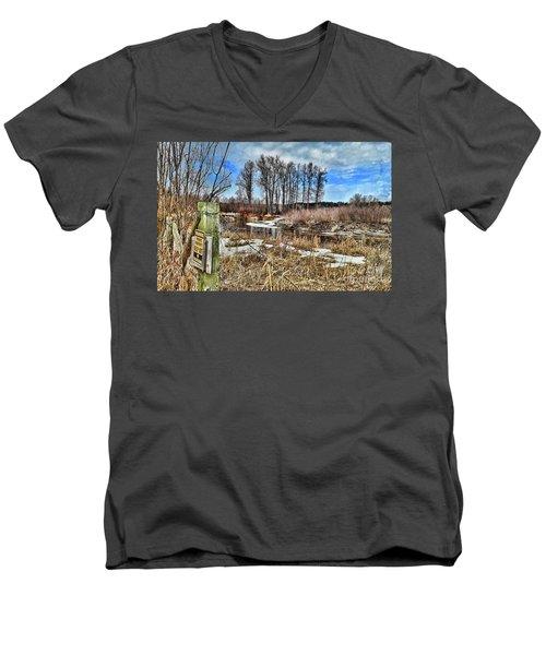 Keep Out Men's V-Neck T-Shirt