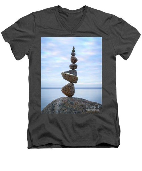 Keep The Balance Men's V-Neck T-Shirt