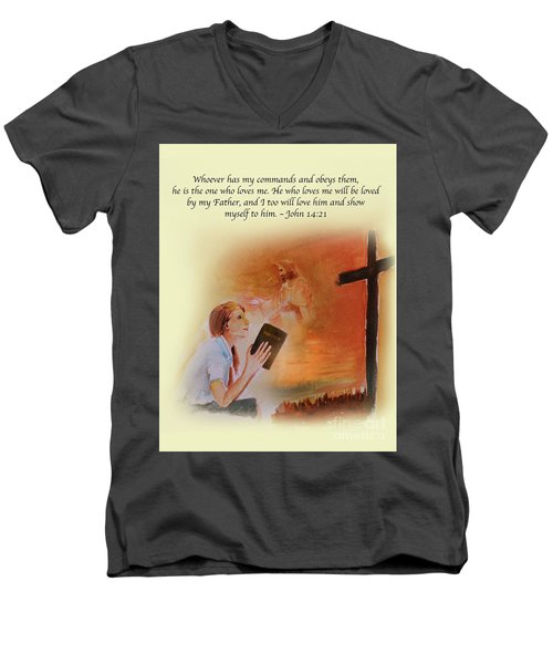 Keeps My Commandments Men's V-Neck T-Shirt