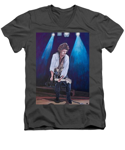 Keith Richards Men's V-Neck T-Shirt