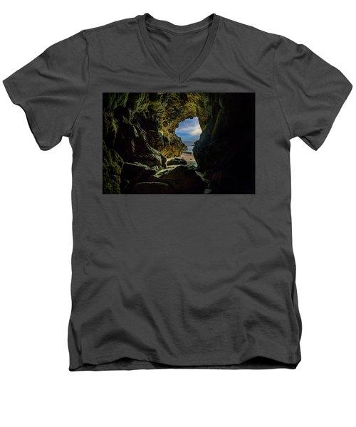 Keyhole Cave In Malibu Men's V-Neck T-Shirt