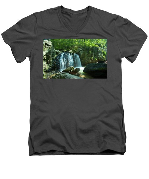 Kilgore Falls In Summer Men's V-Neck T-Shirt