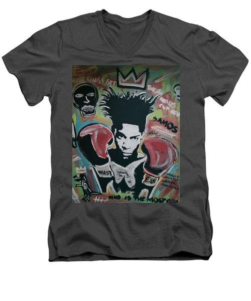 King Basquiat Men's V-Neck T-Shirt
