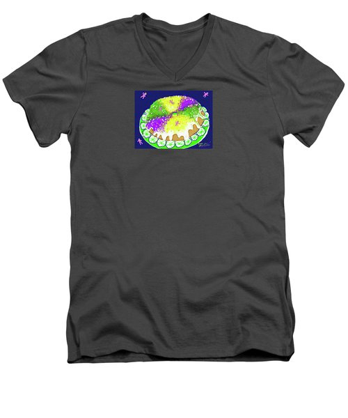 King Cake Men's V-Neck T-Shirt
