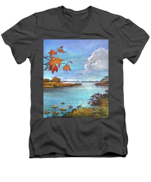 Kites, Clouds And Sailboats Men's V-Neck T-Shirt