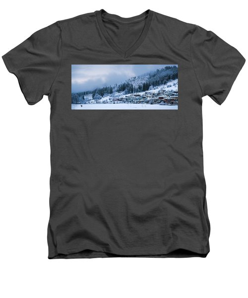 Koprivshtica Winter Panorama Men's V-Neck T-Shirt
