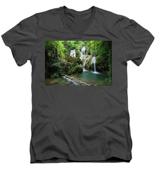 Krushunski Waterfalls Men's V-Neck T-Shirt