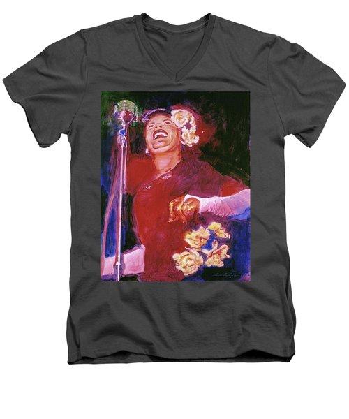 Lady Day - Billie Holliday Men's V-Neck T-Shirt