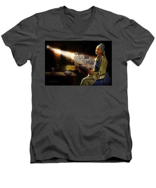 Lady In Waiting Men's V-Neck T-Shirt