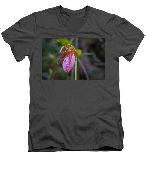 Lady Slipper Orchid Men's V-Neck T-Shirt