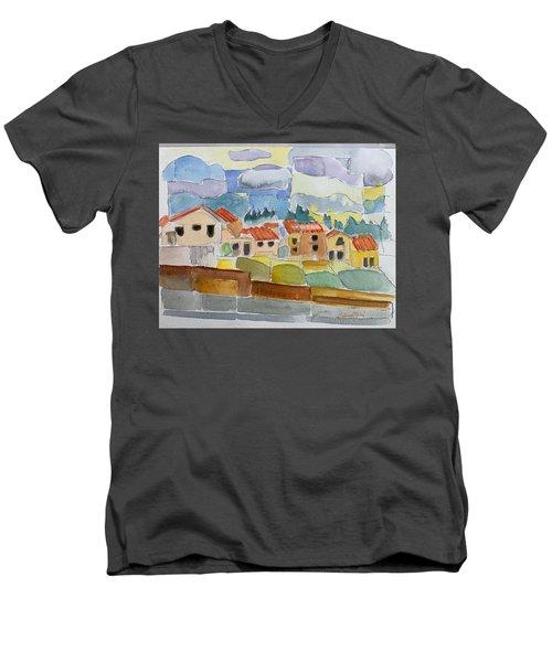 Laguna Del Sol Houses Design  Men's V-Neck T-Shirt