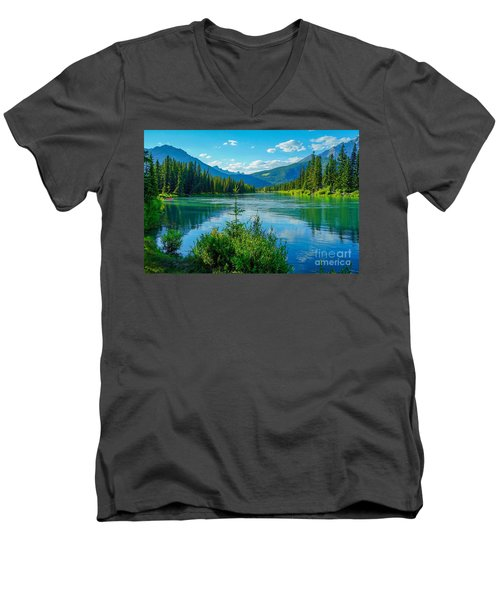 Lake At Banff Indian Trading Post Men's V-Neck T-Shirt