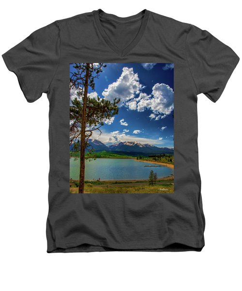 Men's V-Neck T-Shirt featuring the photograph Lake Dillon by Tim Kathka