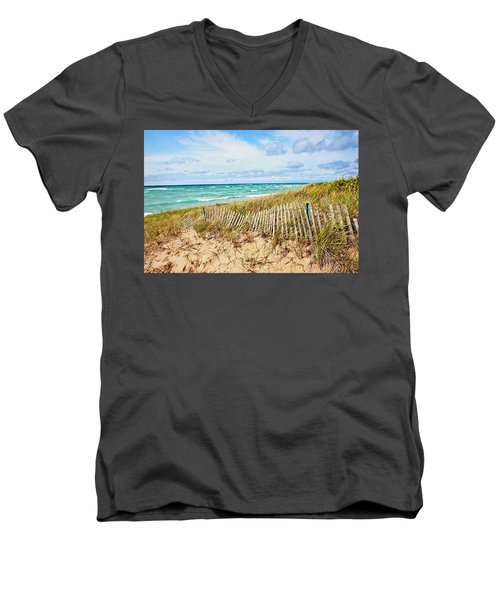 Lake Michigan Beachcombing Men's V-Neck T-Shirt